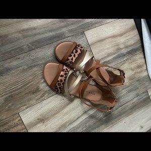 TORRID Cheetah Print Sandals Size 9